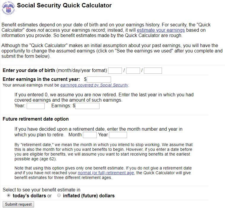 Social Security Calculator • We Love Retirement